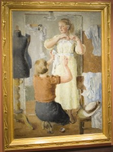 Vladimir-Aleksandrovich-Vasilev-A-New-Dress-1937-Oil-on-Canvas-222x300