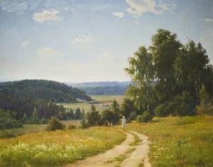 Boris-Valentinovich-Shcherbakov-Summer-1949-Oil-on-Board-300x235