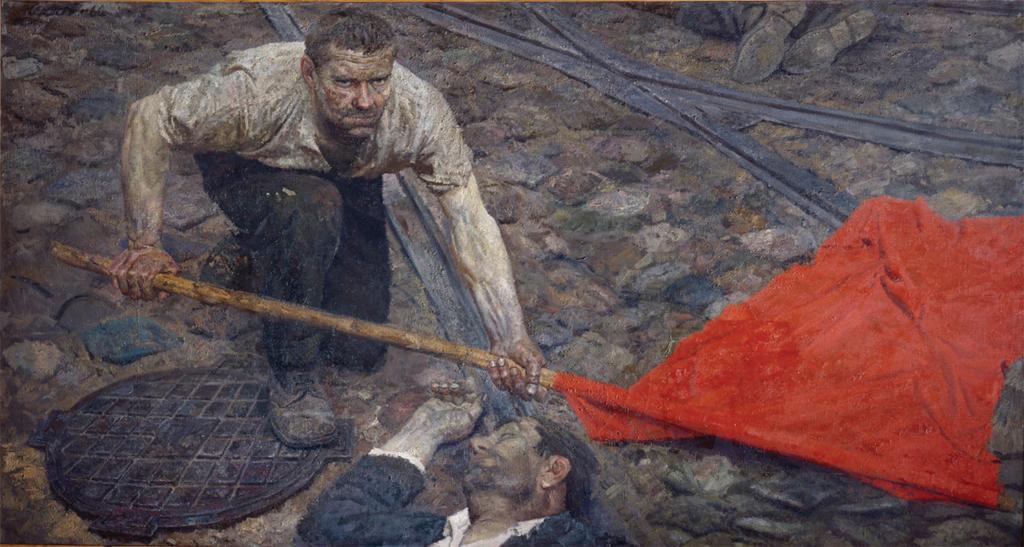 Geli-Korzhev-Raising-the-Banner