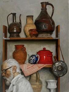 Geli-Korzhev-Still-Life-with-Self-Portrait-1997-Oil-on-Canvas-63-1-8-x-43-1-4-225x300