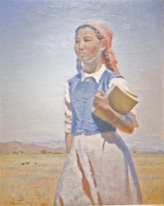 Semon-Afanasevich-Chuikov-A-Daughter-of-Soviet-Kirghizia-1950-Oil-on-Canvas-47-x-37-240x300